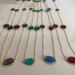 Semi precious stones bezel necklace