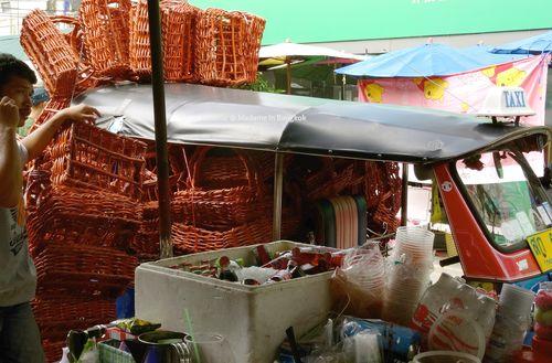 Chatuchak flower market tuk tuk