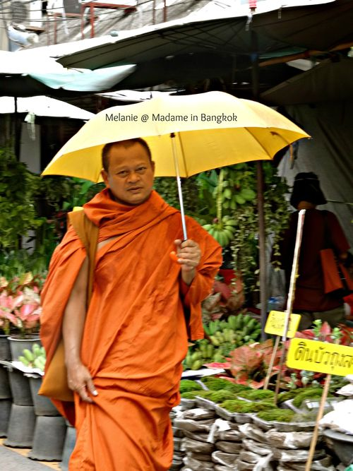 Chatuchak flowers market monk