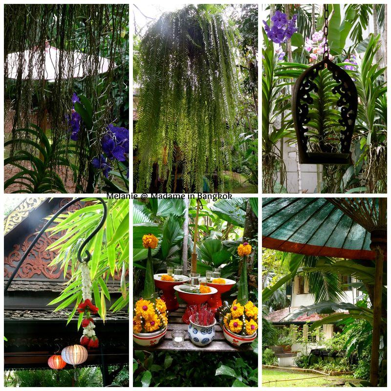 Musée d'art floral dans le jardin  Collage