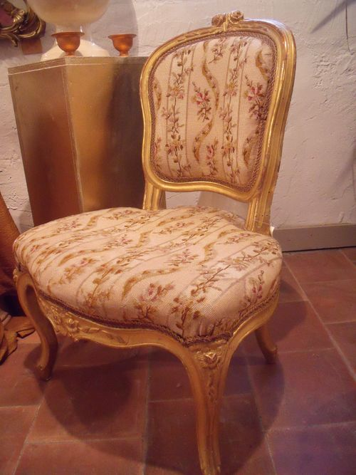 Gilded chair XIX th century