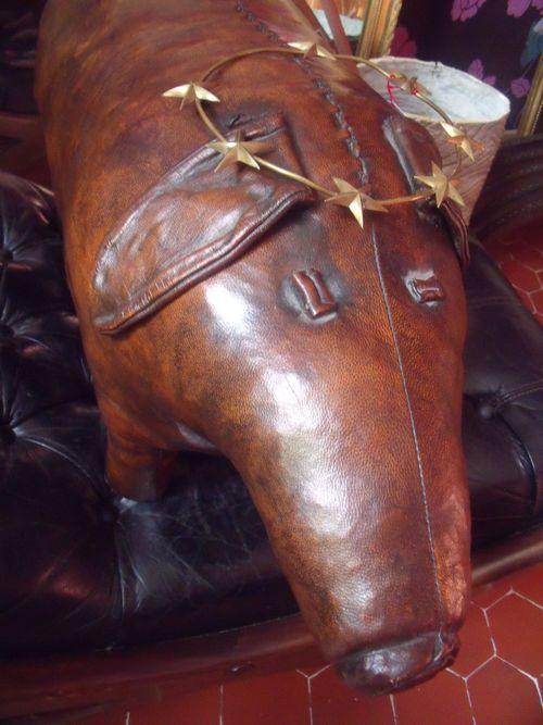 Vintage leather animal
