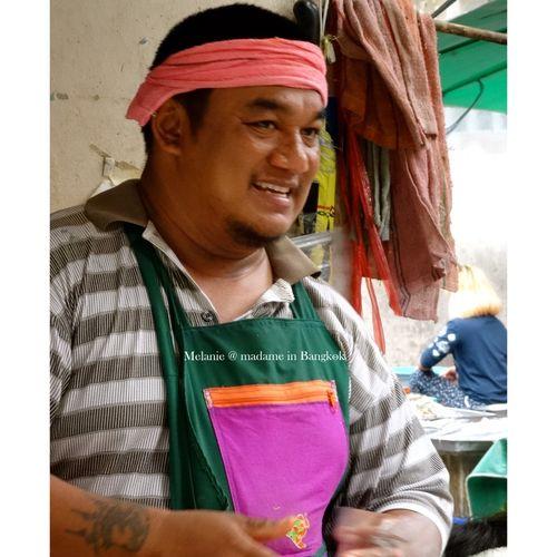 Seller in a market . Bangkok