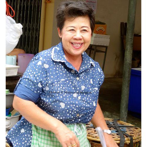 Lady in a market . Bangkok