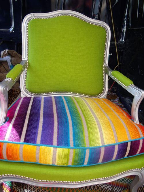 rainbow armchair